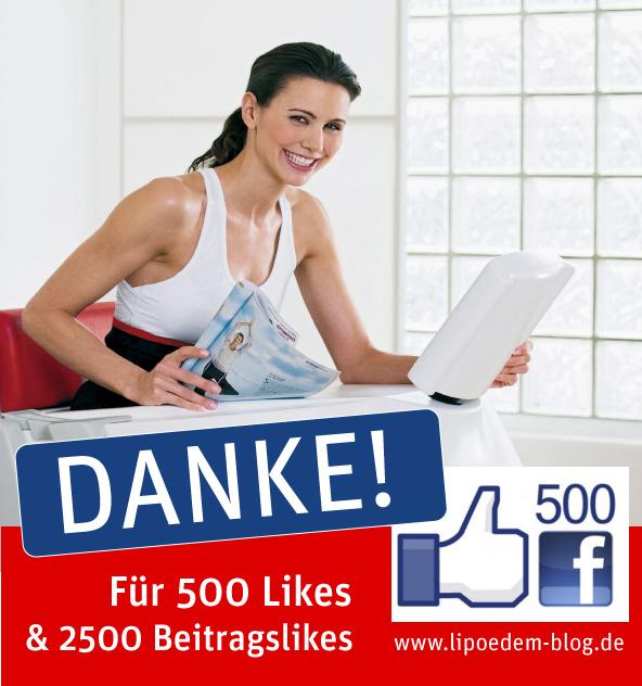 Lipödem Blog hat 500 Likes bei facebook