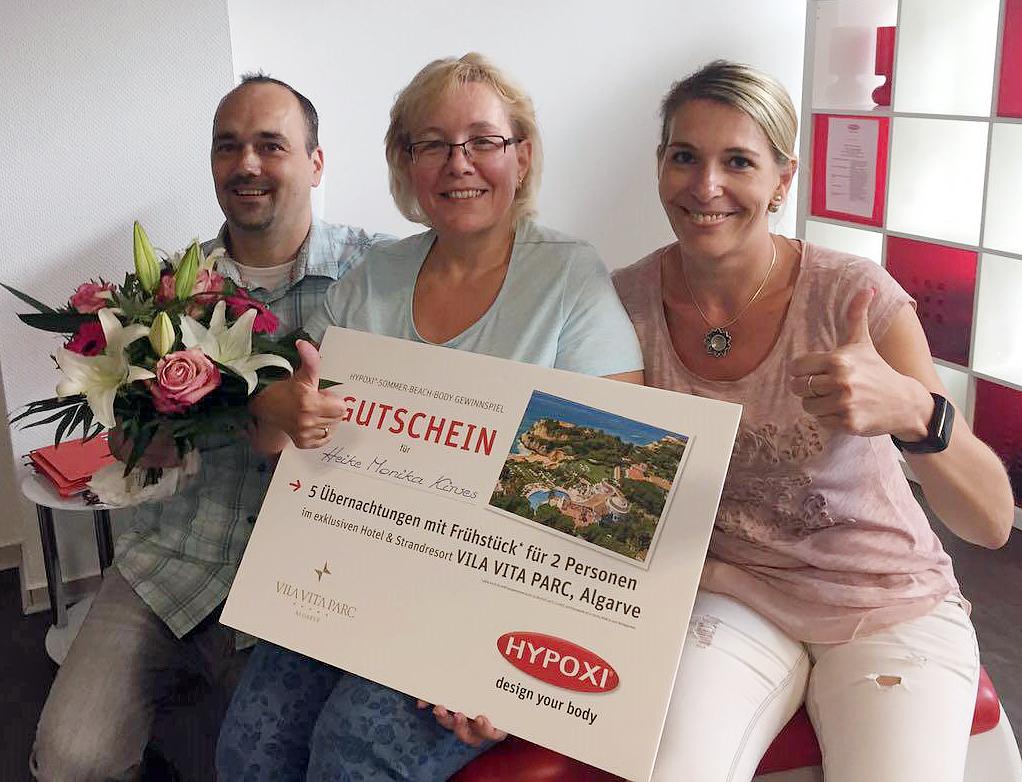 Glückliche Gewinnerin: Heike Kirves