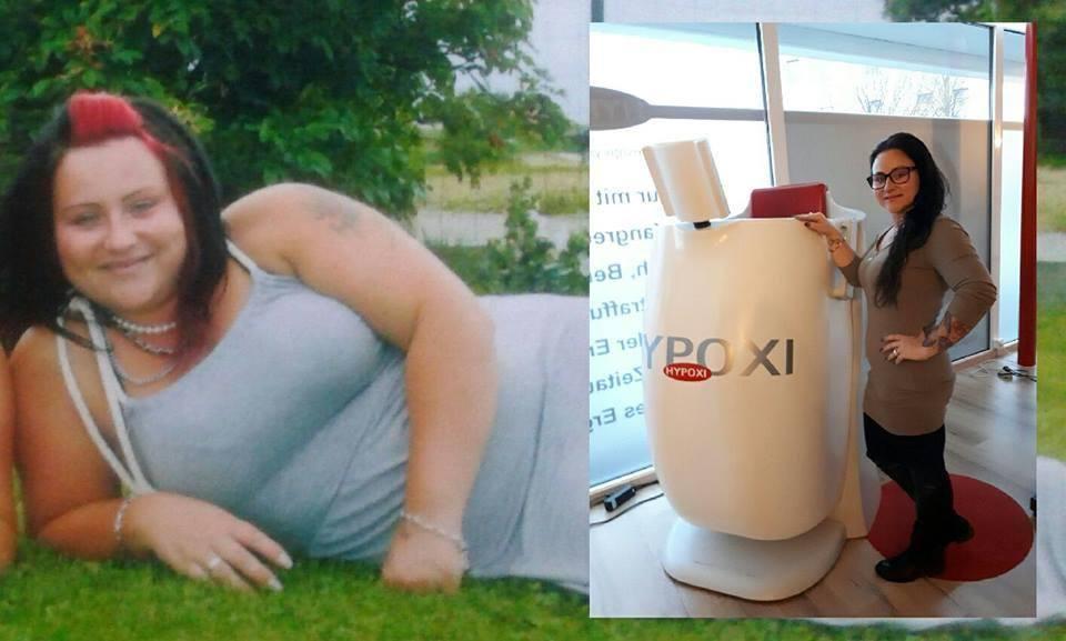 Nadine nimmt 14kg und 80cm Umgang ab, dank HYPOXI